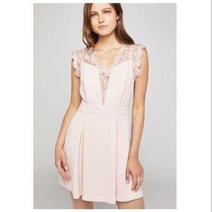 BCBGeneration • Lace Back Pleated Dress